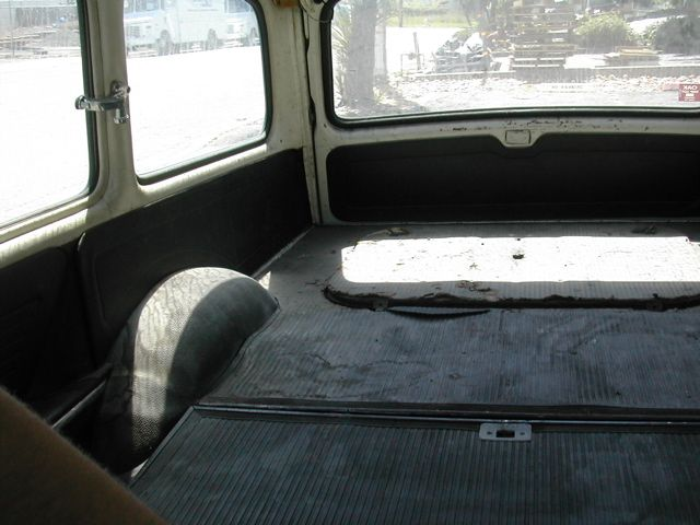 Interior as delivered.